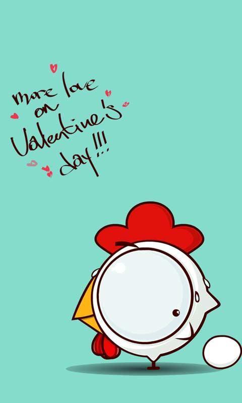 卡通公鸡动画动态锁屏壁纸