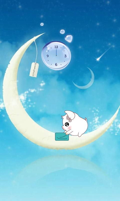 微乐带你进入可爱猪的小世界,    弯弯的月亮
