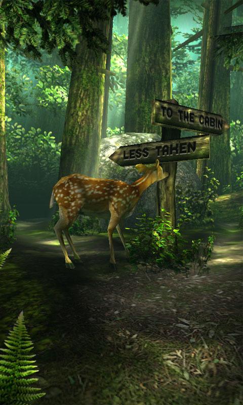 [动态壁纸3D-迷幻森林 Fo... [动态壁纸3D-迷幻森林 Forest HD]是一款高质量的动态壁纸。来自顶尖开发者的作品,其拥有丰富的动态的小鸟,小鹿,小木屋,溪流,花草树木,让您的桌面变身为原始大森林。 【基本信息】 作者:深圳市万家同城网络有限公司 更新时间:2015-05-18 版本:15.