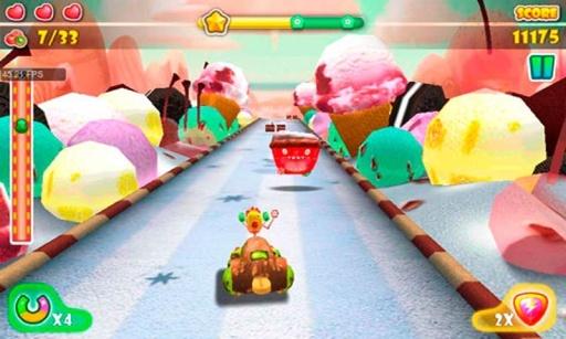 一款充满甜蜜元素的糖果世界主题竞速游戏。... 一款充满甜蜜元素的糖果世界主题竞速游戏。游戏中有各种各样的道具,整个世界以糖果为主题。丰富的元素,如跑酷,避免撞击,无敌盾,等待着你去探索。来开上自己的车,开始一场惊心动魄的和令人兴奋的旅程,在这个甜蜜的幻想世界!
